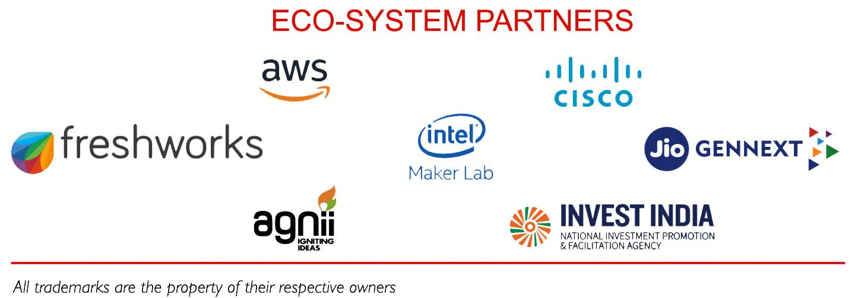 AWS, Cisco, Freshworks, Intel Maker Lab, Jio Gennext, Agnii, Invest India
