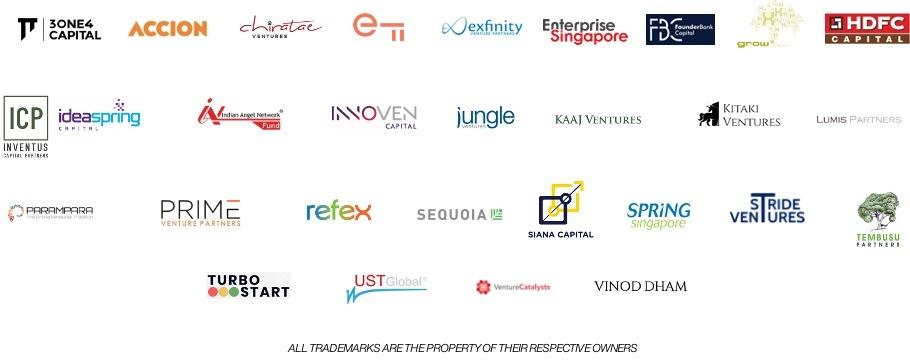 Chiratae Ventures, Sequoia, Prime Venture Partners, Parampara, Jungle Ventures, Kaaj Ventures, HDFC Capital, exfinity, Accison, Kitaki Ventures, Lumis Partners, Siana Capital, UST Global, Vinod Dham, Stride Ventures